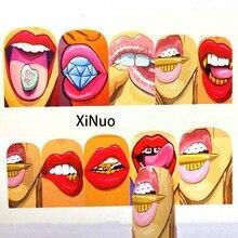 1pcs Nail Sticker Set Decal Lips Water Transfer Slider For Nails Art Decor C05/C06/C07/C08