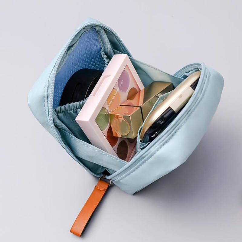 Travel Portable Cosmetic Bag Square Travel Portable Small Handbag Travel Toiletry Storage Bag Beauty Makeup Bag