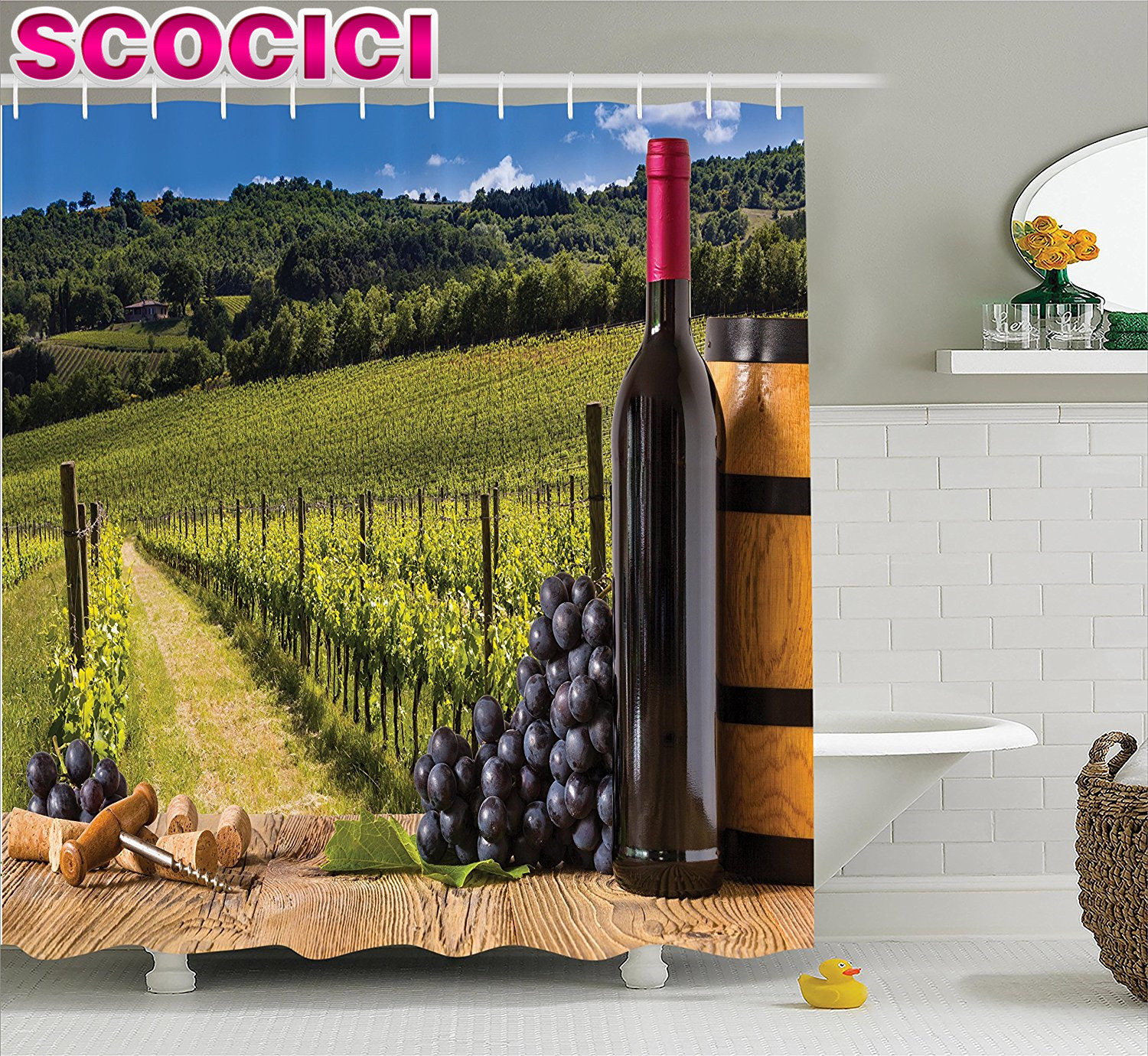 Bathroom Wall Sticker Quote Deep Bath Gl Of Wine Decor Decal With Bubbles