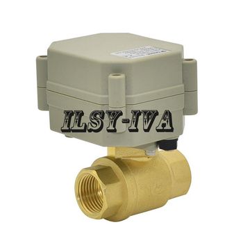DN15(G1/2'') brass electric actuator valve,AC110~230V Switch type three wires control motorized ball valve with instruction