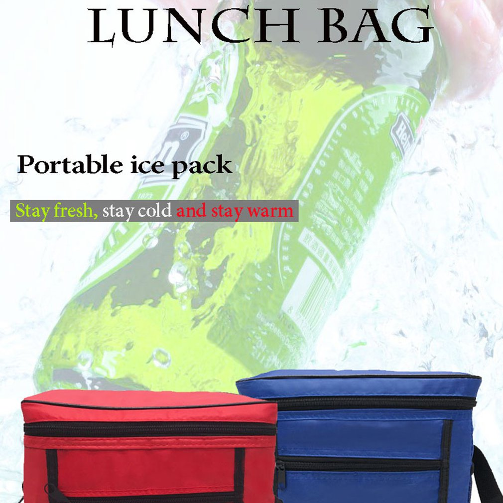 Image 2 - Portable Cooler Bag For Food Preservation Storage Picnic Thermal Insulation Bags Travel Nylon Women Lunch Bags-in Picnic Bags from Sports & Entertainment