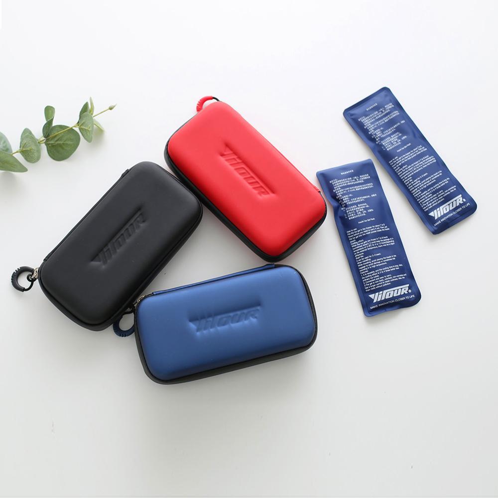 Organizador do diabético de e-doo, saco de refrigeração médico do caso do curso do refrigerador da insulina com 2 pacotes de gelo saco do pacote do refrigerador da insulina
