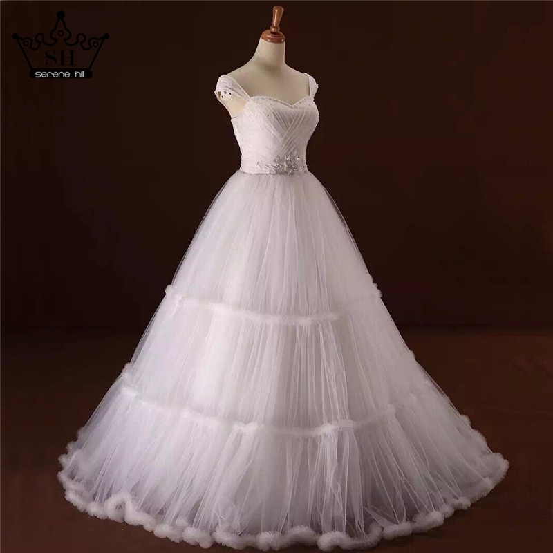 Wedding Gowns With Ruffles: Corset White Cloud Ball Gown Wedding Dress Ruffles Wedding