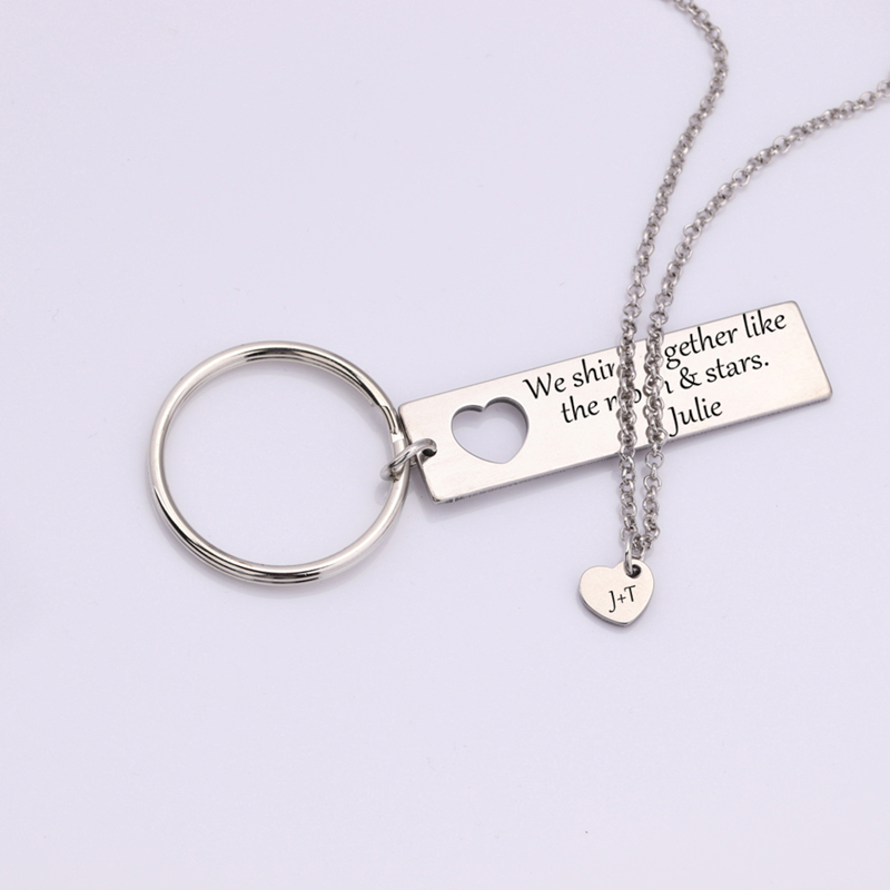 """/""""Moon of My Life My Sun and Stars/"""" Gift Lover Couple Accessories Keychain OD"""