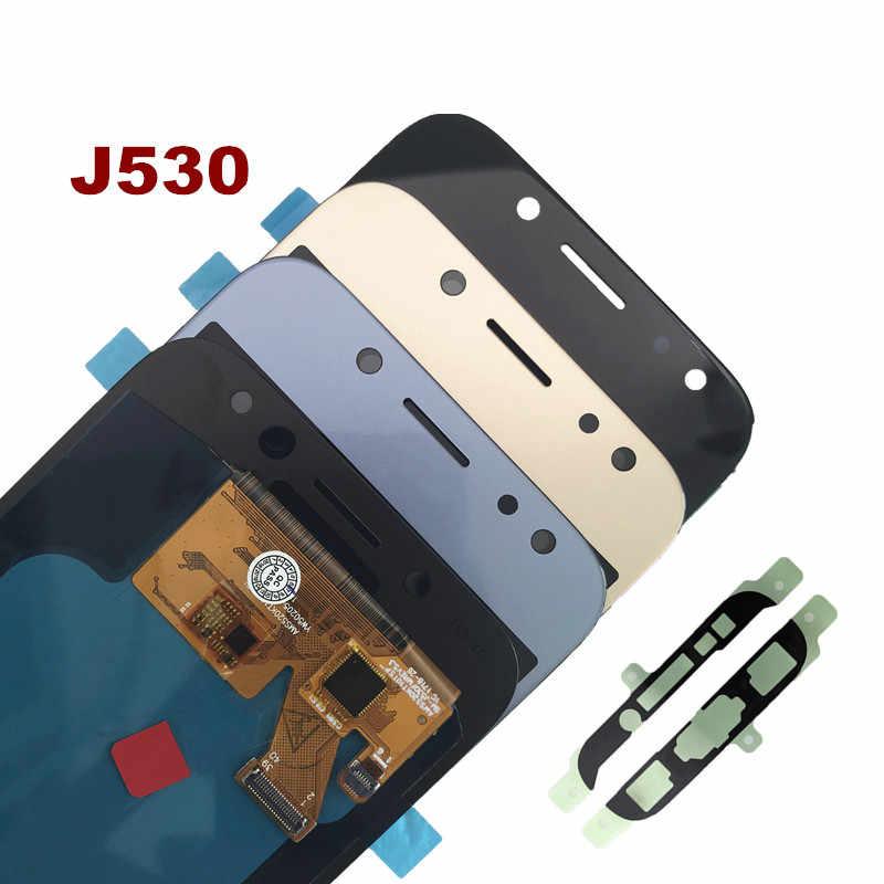 J530 LCD شاشة قطع غيار سامسونج غالاكسي J5 2017 J530 J530F J530M LCD سوبر AMOLED عرض مجموعة المحولات الرقمية لشاشة تعمل بلمس