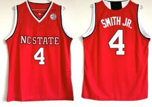 VIVA VILLA Dennis Smith Jr. NC State Wolfpack 4 Red White Basketball Jersey  Double 8671df630