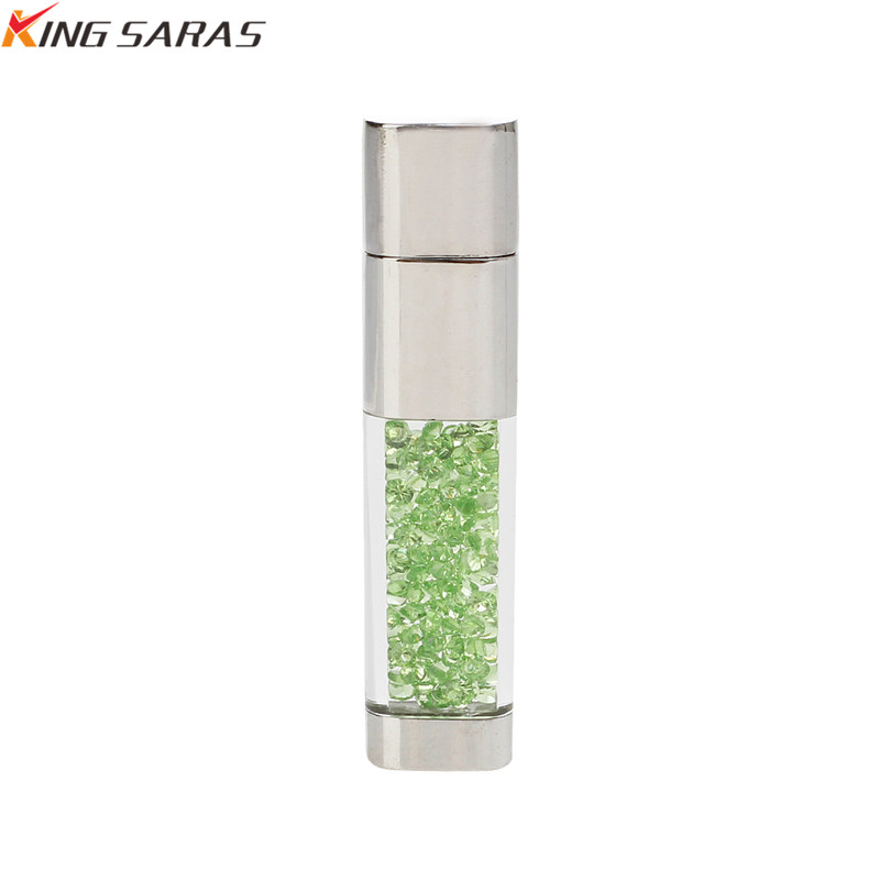 King Saras New Usb Flash Drive  Crystal Pen Drive 4GB 8GB 16GB 32GB Metal USB 2.0  Pendrive 64GB 128GB For Gift Free Custom Logo (5)