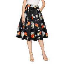 Faldas mujer moda 2019 printed skirt pleated summer floral gothic plus size korean party sexy top women clothes