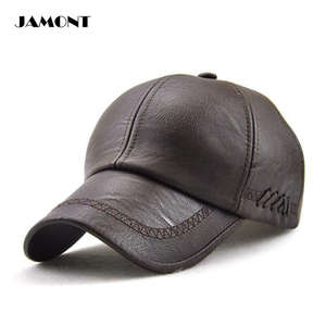f4c671b4d63c6e JAMONT 3 Colors PU Leather Embroidery Bind Adjustable Outdoor Sport Solid  Golf Hats