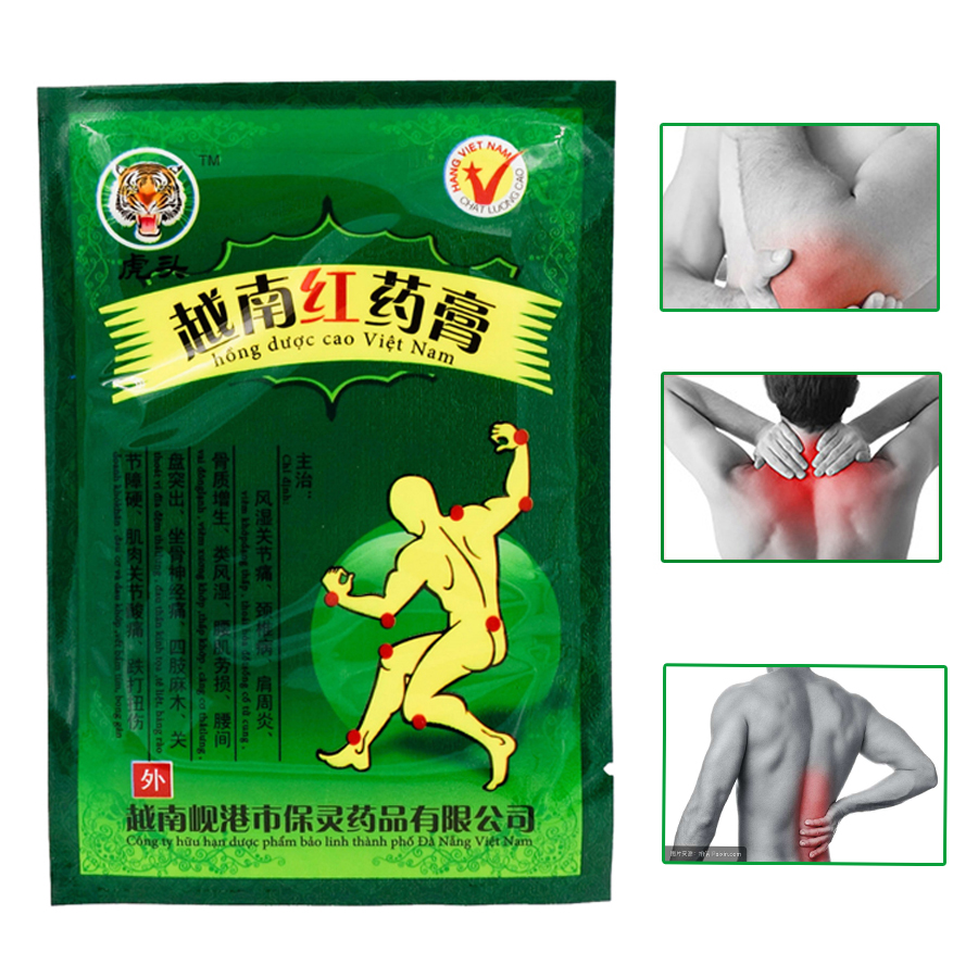 8pcs Vietnam Red Tiger Muscle Relaxation Capsicum Herbs Plaster Joint Pain Killer Back Neck Body Patches Tiger Balm Massage