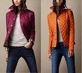 Британский Стиль 2017 женщин Куртки Ватные Пуховик Двубортный Ветровки Женщины Куртки и Пальто Плюс Размер XXL 3XL