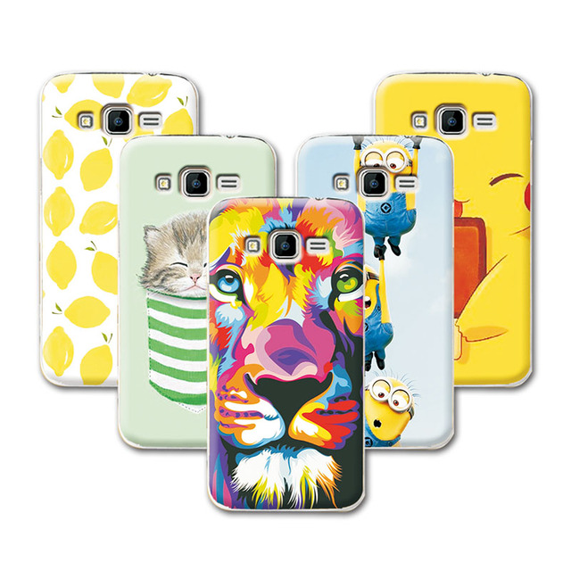 fruit art print minions banana cartoon design case for samsung galaxy core prime g360 g3606 g3608
