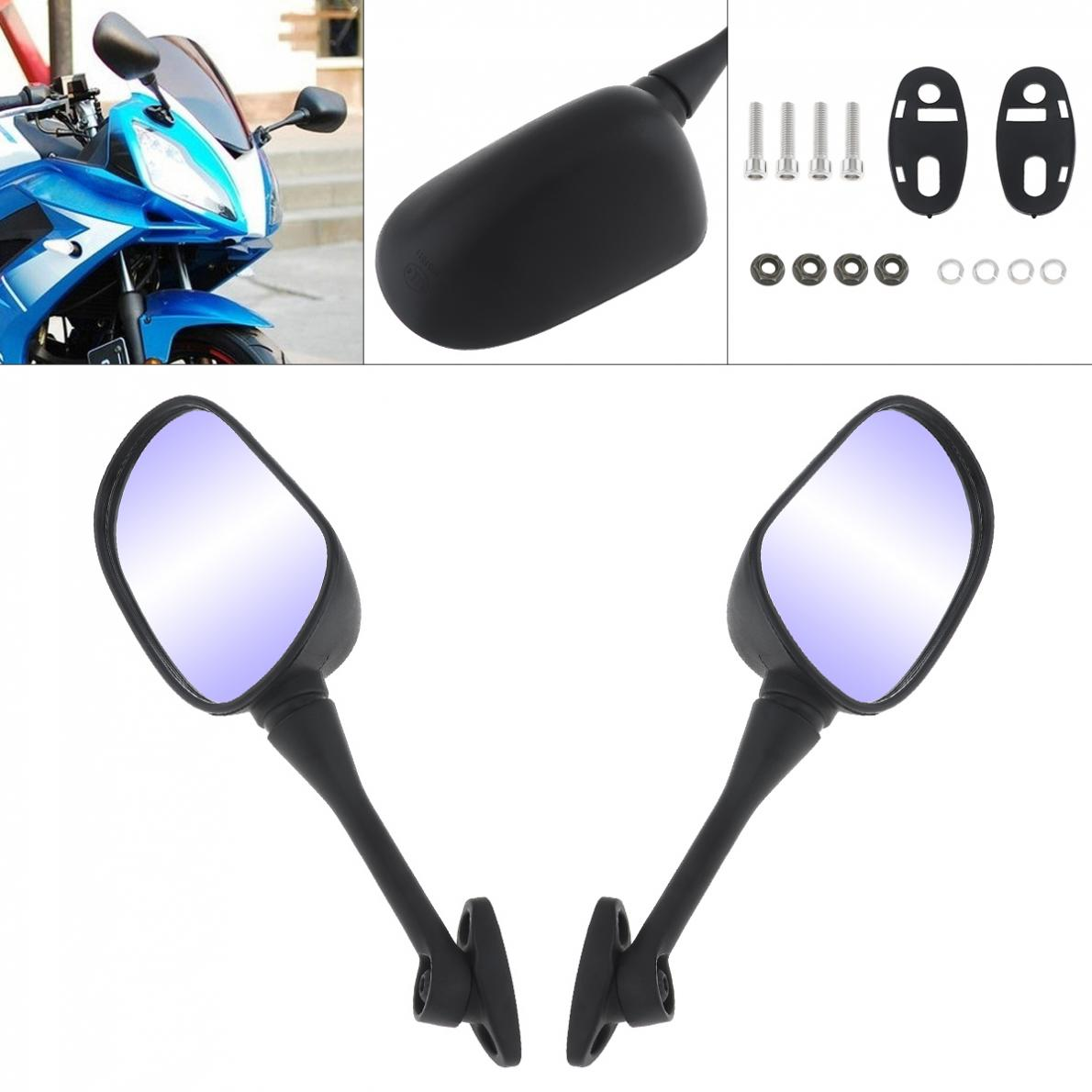 2x Motorcycle Rearview Side Mirrors For Honda CBR600RR CBR1000RR 2004-2007 Black