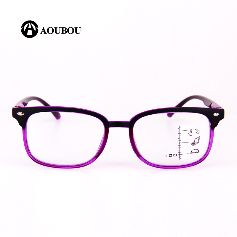 Image 4 - AOUBOU High Quality Unisex Progressive Multifocal Lens Reading Glasses Men Women Presbyopia Hyperopia Bifocal Eyeglasses A010-in Women's Reading Glasses from Apparel Accessories