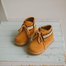 В народном стиле для девочек зимняя обувь с бахромой натуральная кожа сапоги детские зимние сапоги для маленьких девочек зимние ботинки SIZE21-25