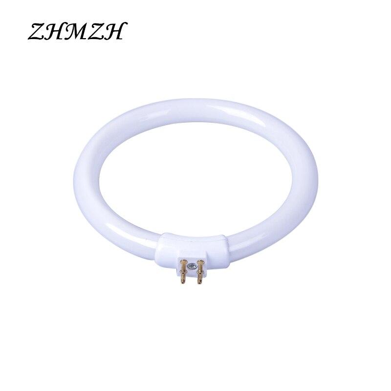 T4 Annulaire Tubes Anti-quatre-pin 11 W 12 W 110 V et 220 V Loupe verre Lumière G10q Petit Bureau Lampes Ampoule Fluorescente Anneau Lampe blanc