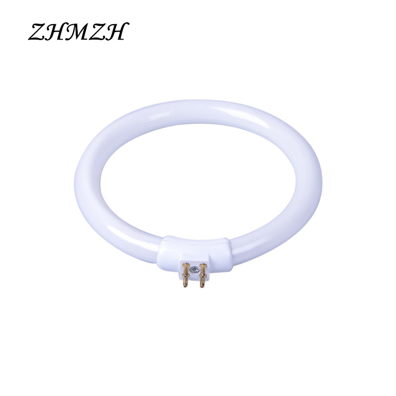 T4 Annular Tubes Anti-four-pin 11W 12W 110V & 220V Magnifying Glass Light G10q Small Desk Lamps Bulb Fluorescent Ring Lamp White