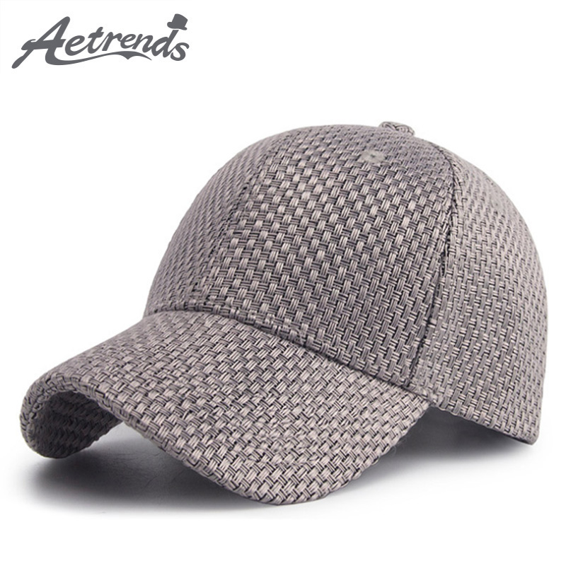 [AETRENDS] 2018 New Spring Summer Cotton Woven Baseball Cap Men Women 6 Panel Snapback Outdoor Sport Hats Polo Caps Z-6282 wholesale spring cotton cap baseball cap snapback hat summer cap hip hop fitted cap hats for men women grinding multicolor