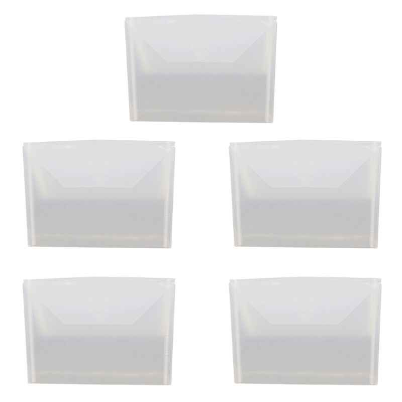 5pcs Resealable Clear Plastic Seal Bags Storage Case For Cutting Dies Stencil Album Stamp Crafts