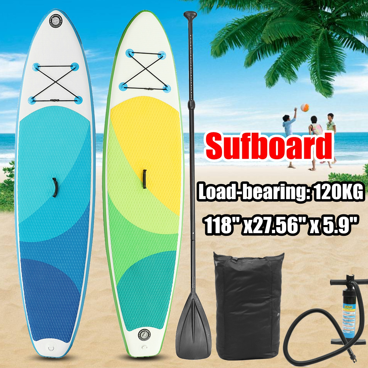 10FT 3m- SUP Inflatable Surfing Board Soft Surf Stand Up Paddle Board 300X76X15CM nflatable surf board sup paddle boat shoulder bag carry bag for inflatable boat kayak sup board stand up paddle surfing board pump oar dinghy raft surf board a05011