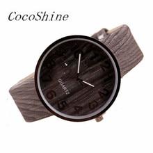 CocoShine A-777 New Fashion Style Wood Grain Leather Quartz Watch Women Dress Wristwatches  Watch wholesale Free shipping