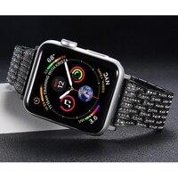 Diamond strap For Apple Watch band 4 44mm 40mm Aple watch correa 42mm 38mm stainless steel bracelet iwatch 4 3 2 1 Watchband