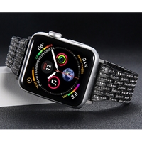 Diamond strap For Apple Watch band 4 44mm 40mm Aple watch correa 42mm 38mm stainless steel bracelet iwatch 4 3 2 1 Watchband
