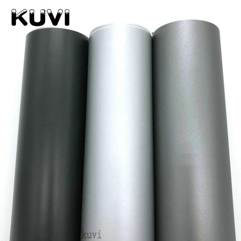 Черного, серого и серебряного цветов матовая виниловая Автомобильная Обёрточная бумага s Авто атласная Черная матовая пленка для оклейки м