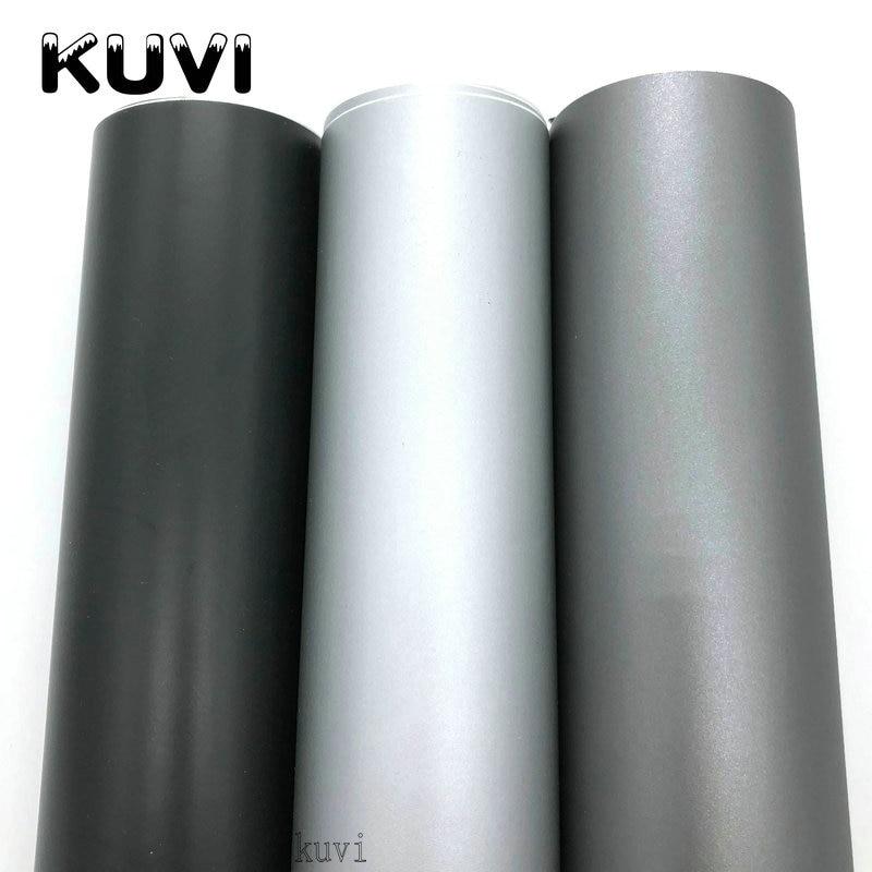 Black Grey Silver Matte Vinyl Car Wraps Auto Satin Matt Black Foil Car Wrap Film Vehicle Sticker with size1.52x28m /Roll