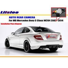 цена на Car Rear View Camera For MB Mercedes Benz C Class W204 2007~2014 / Reverse Camera / HD CCD RCA NTST PAL / License Plate Lamp OEM