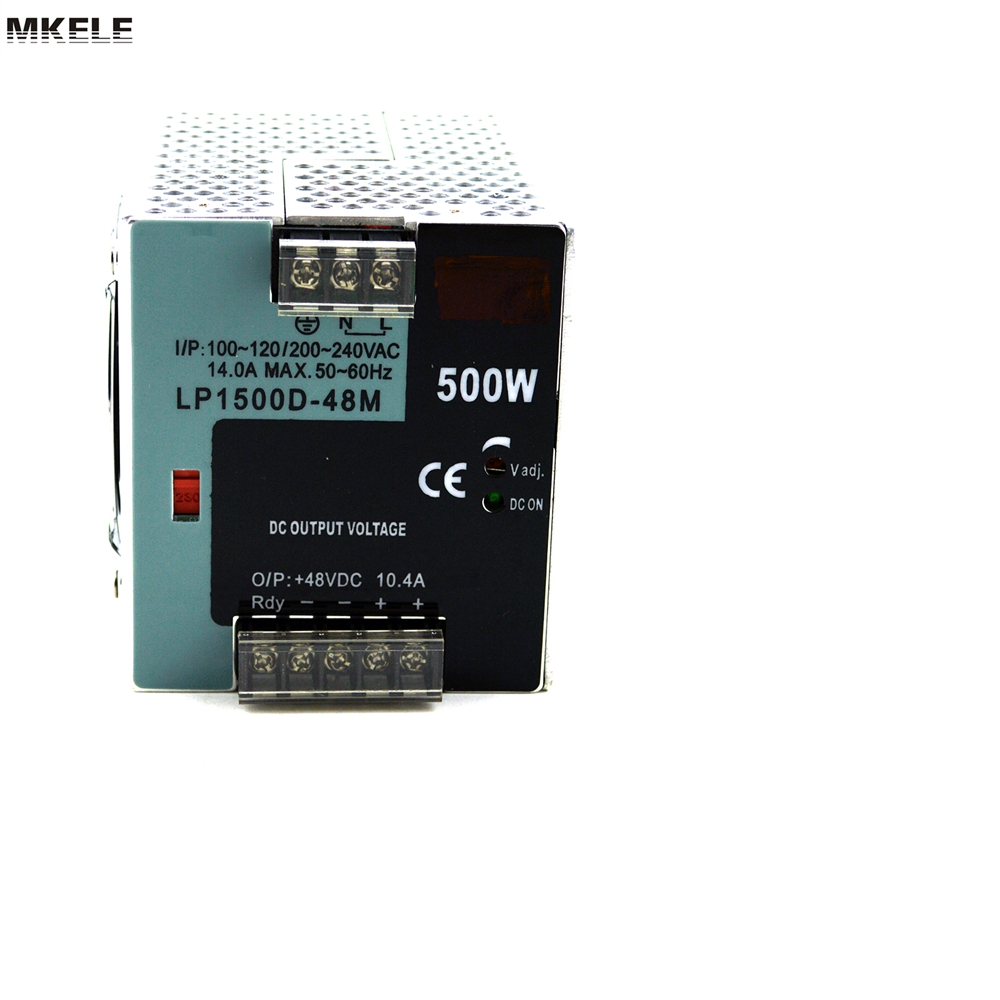 Hot Sale Din Rail Switch Power Supply Direct LP-500-48 500W 48V 10.4A 500watt CE Approved Without Digital Show China 48v 500w din rail switch power without the function of measuring lp 500 48