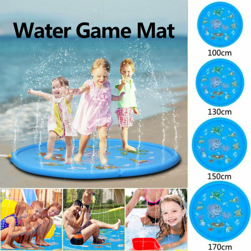 Summer Children'S Outdoor Play Water Games Beach Mat Lawn Inflatable Sprinkler Cushion Toys Kids Baby Water Play Mat Gift