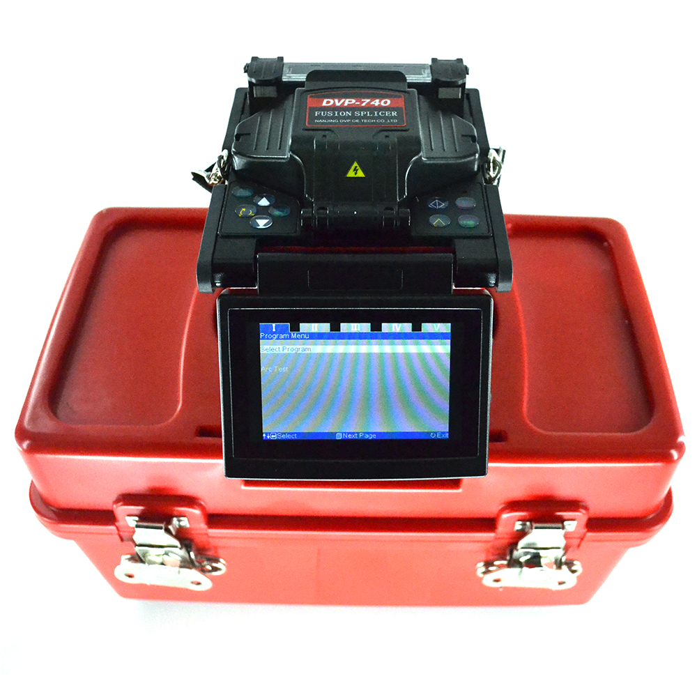 Multi-language DVP740 Optical fiber Arc fusion splicer FTTx / FTTH Fiber Optic Splicing Machine