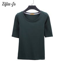 T-shirt garment Basic Tops clothing 2017 new fashion slim sexy cotton half-sleeve O-neck top tees t shirt women casual plus size