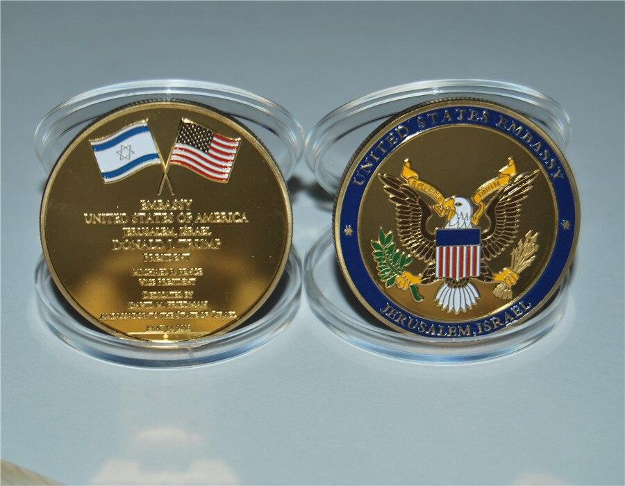 United States Embassy Jerusalem Israel Challenge Coin - Dedicated May 14, 2018 (41)