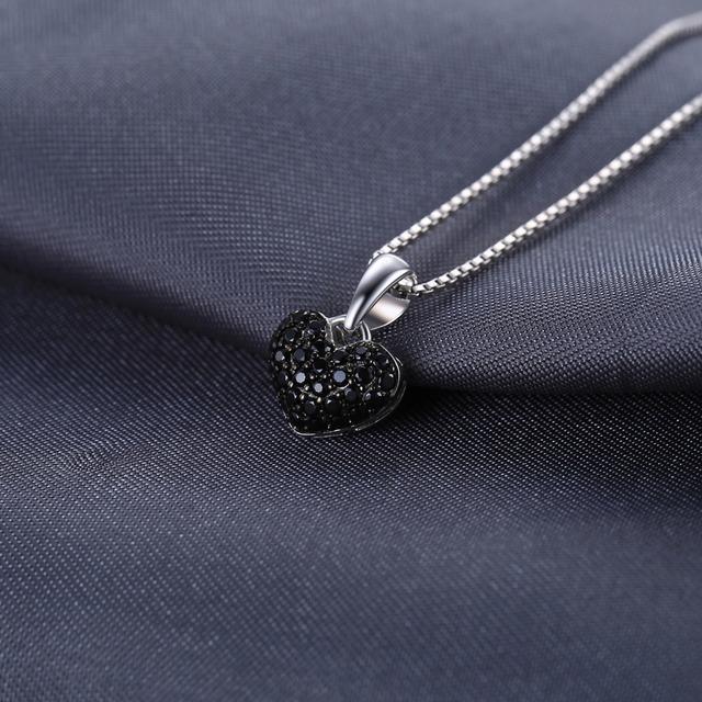Natural Black Spinel Heart Pendant