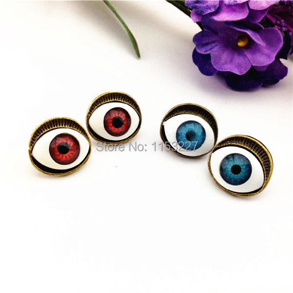 11.11 Shopping Festival  turkish style evil eye earings fashion   eye ear plugs piercing