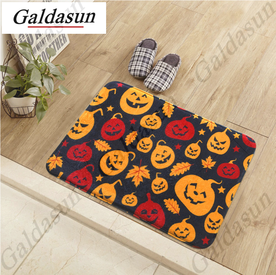 Popular halloween mat buy cheap halloween mat lots from for Fleece tapete