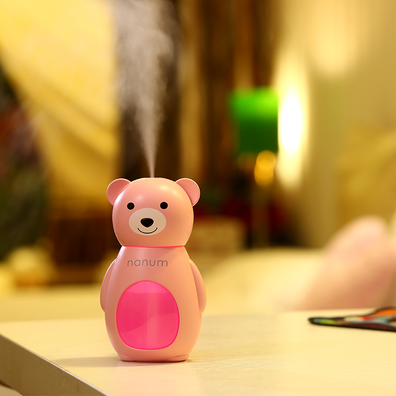 Creative Cartoon Mini Air Humidifier with LED Lights for Home Office Desktop USB Ultrasonic Mute Humidifier Water Atomizer home car dual use mini usb vehicle aromatherapy humidifier ultrasonic air water supply instrument atomizer