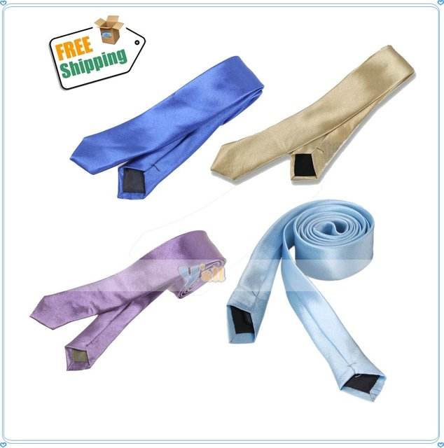 Free Shipping,Wholesale and Retail Brand New Colorful Student Skinny Tie,5pcs/lot-F00110
