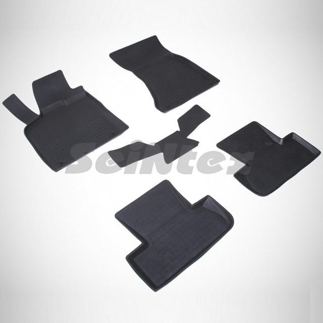Для Audi Q5 2010-2016 резиновые коврики в салон автомобиля 5 шт./компл. Seintex 85514