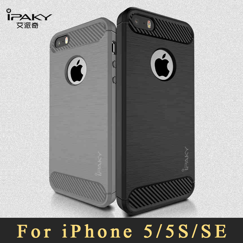 low priced e6d09 ce200 Original ipaky coque For iPhone 5s case Luxury Brushed TPU case For iPhone  SE case silicone Back Cover For iphone 5 se 5se cases