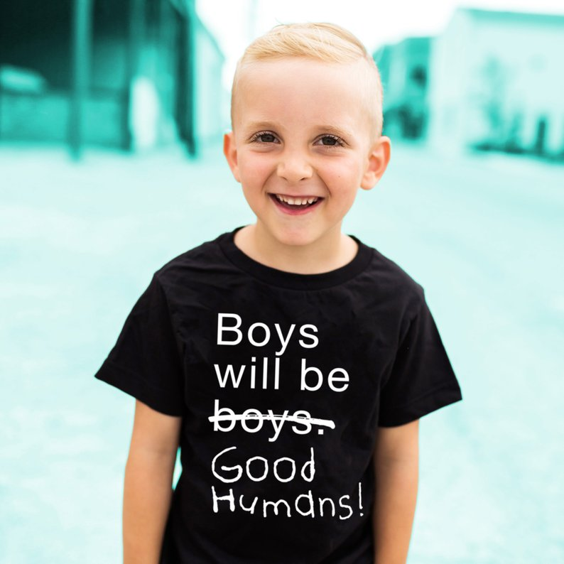 Kids T-Shirt Feminism Print Baby Boys Gentlemen Letter Be Will 44T5 Good-Humans Activist