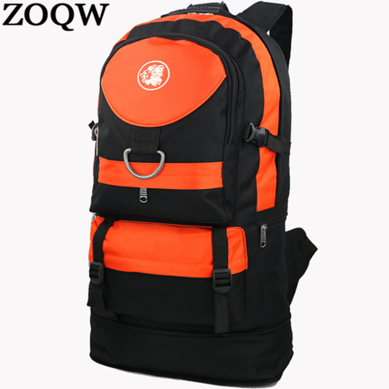 Zoqw Fashion Men Women Waterproof Backpack Black Mountaineering Backpacks Leisure Travel Backpack Women Bagpack Mochilas Wxf67