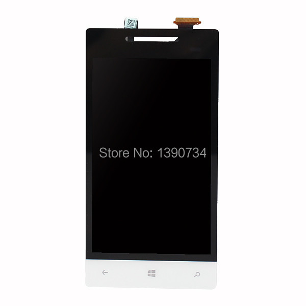 LCD Display + Touch Digitizer Screen Assembly For HTC Windows Phone 8S A620e White color Free Shipping