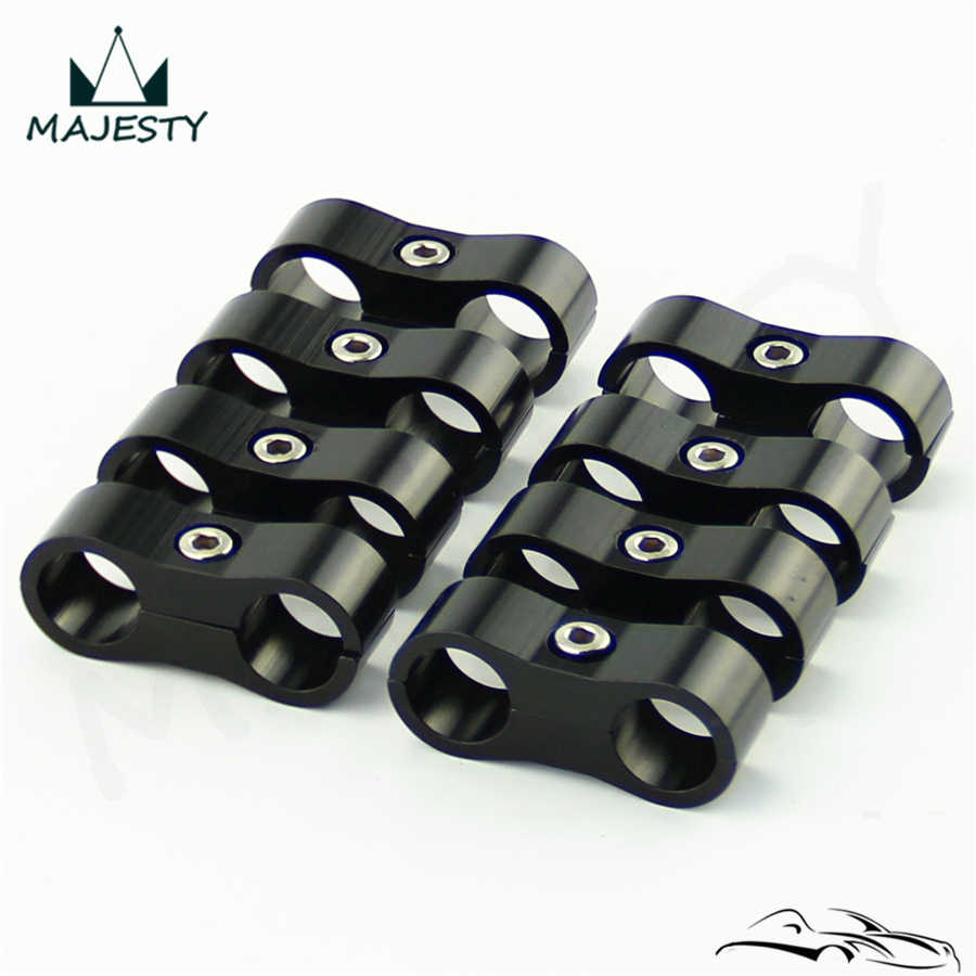 8Pcs AN8 Braided Fuel Hose Separator Clamp Oil Lines Bracket 16mm I.D for Car
