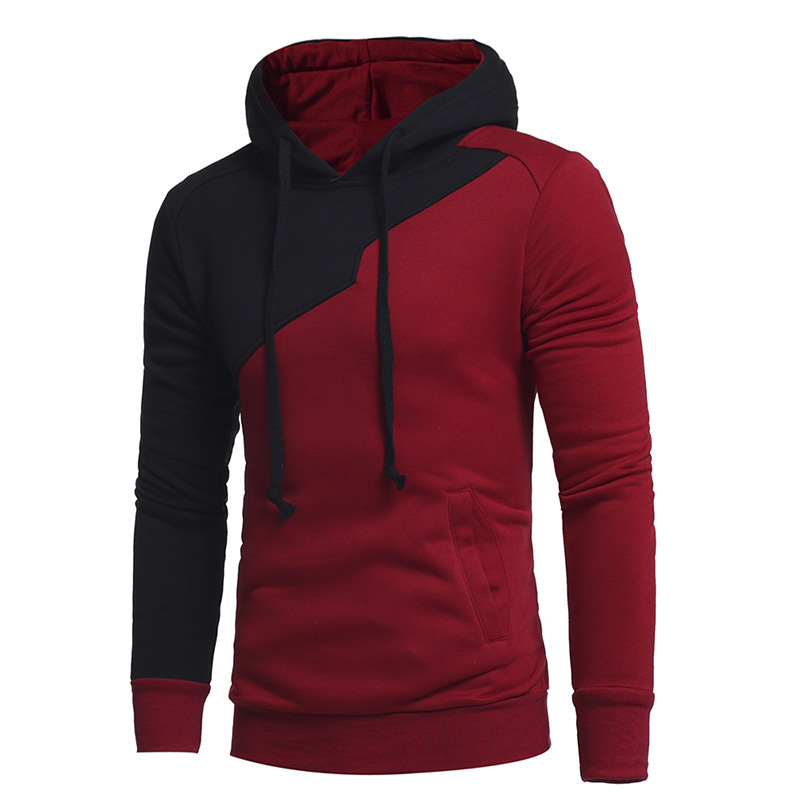 Hot Fashion Men's New Winter Stitching Fight Clothing hoodie men Casual long sleeve Hooded Sweatshirt mens hoodies