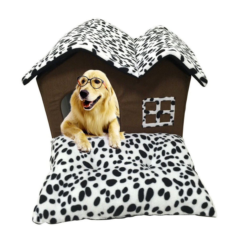 Double Dog Bed Details About Gomaomi Luxury Soft Funny High End Double Pet House Dog Bed Room