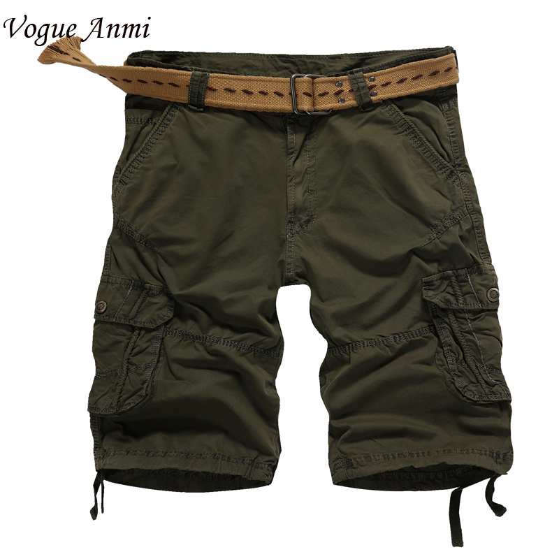 Vogue Anmi.High quality new fashion style men short pants travel beach mens cargo shorts casual cotton washing short size30-40