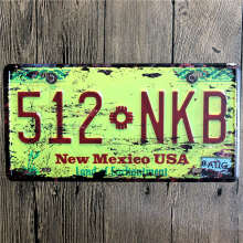 hohappyme American License Plate USA Plaques Signs Car Number Garage Decoration Metal Tin Sign Vintage Home Decor 15x30cm